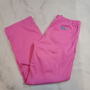 Peaches Signature Size Small Pink Scrub Pants